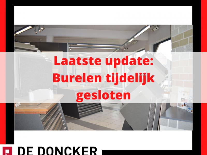 Burelen tijdelijk gesloten - update 15/11 - 17u