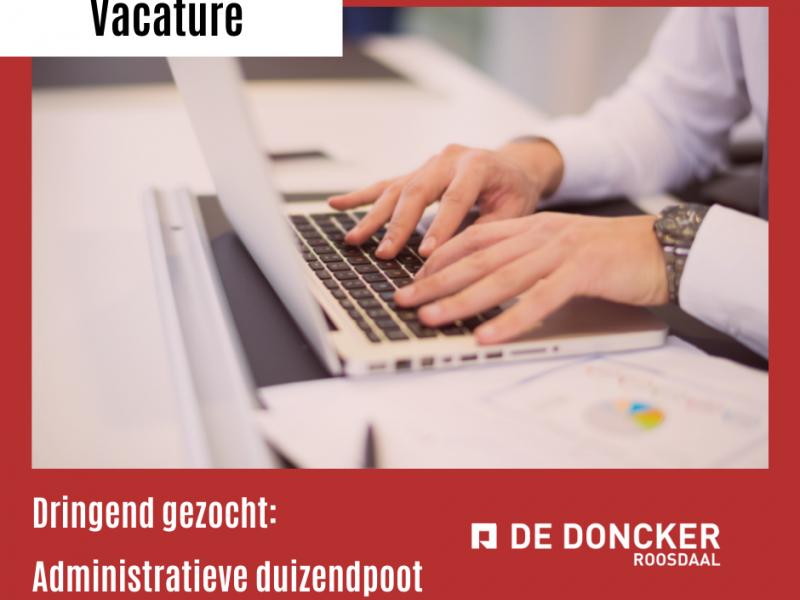 Vacature: administratieve duizendpoot